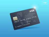 Credit Card Mockup — Free PSD