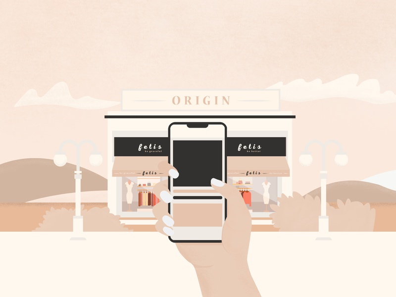 Go the shopping! fashion hand with phone hand clouds shop fetis look magazine phone shopping