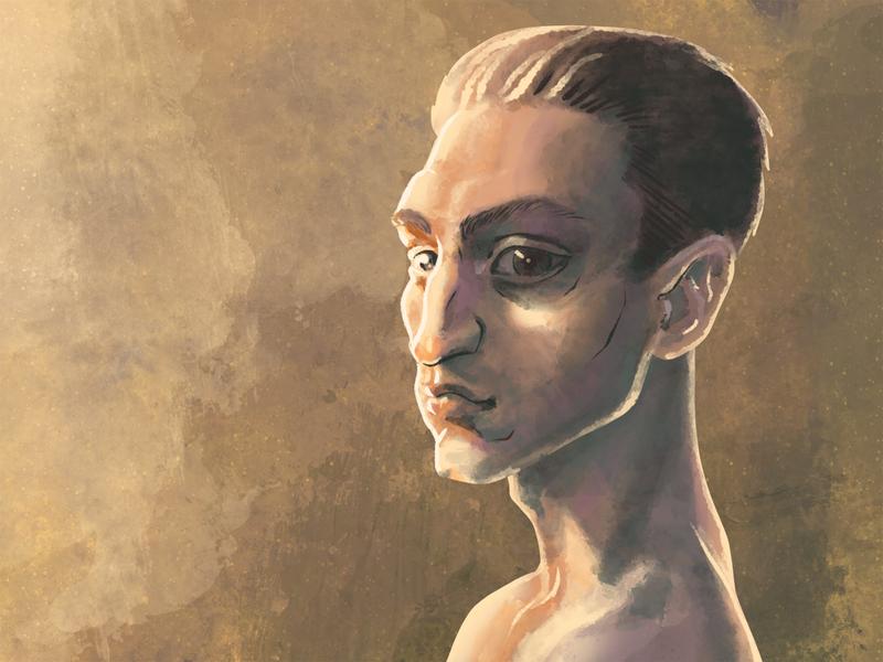 Digital Portrait Painting st louis mo graphi designer painting illustration digital profile portrait lighting dramatic man male