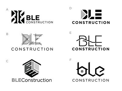 BLE Construction Logo Design Concepts st louis designer graphic missouri house roof design logo contracting construction monogram ble