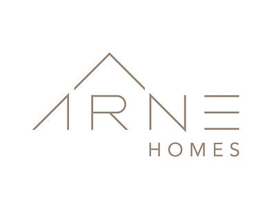 A Custom Homes Logo Design Concept house home typographic geometric modern clean minimal identity logo design custom home