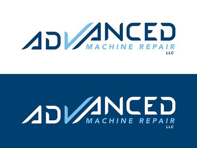 Advanced Machine Repair - Logo Design modern typographic design designer graphic st. louis missouri professional clean branding logo