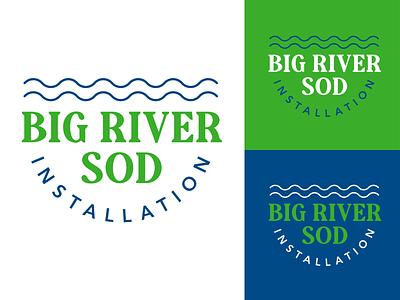 Big River Sod - Logo Design designer retro clean river st louis missouri graphic design branding logo
