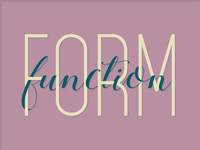 Form Function Typography