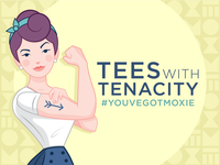 Moxie Shirt Co. - Rosie the Riveter Ad