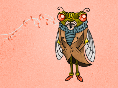 Hanging on for Fall - Cicada Character