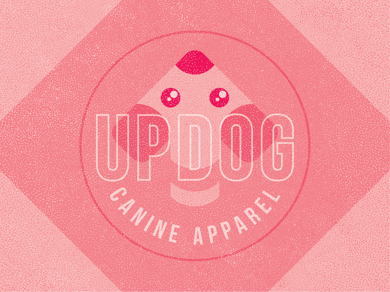 Updog Canine Apparel modern fashion accessories brand clothing branding mark identity design logo puppy apparel canine dog updog