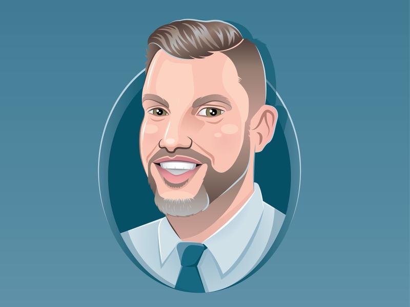 Custom Cartoon Portrait logo mascot illustration man personalized custom avatar vector caricature portrait character cartoon