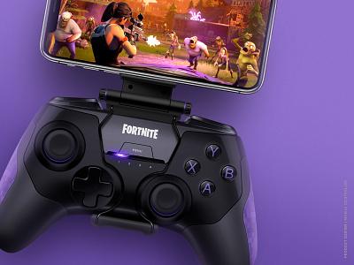 Fornite mobile controller concept product design accessories illustration video games fornite mobile controller gaming concept industrial design design