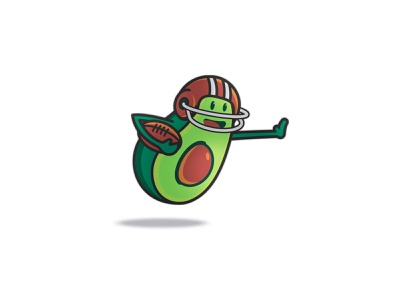 Avocado Character Illustration character design character branding illustration football avocados avocado