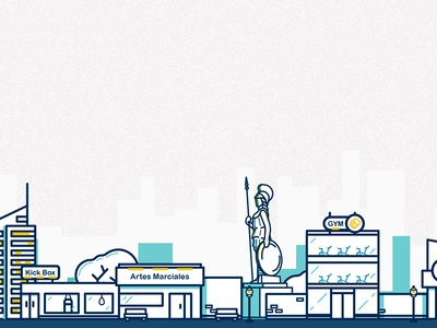 Outline City  outline icon illustration