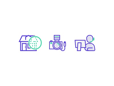 Support Icons support home photo outline icon
