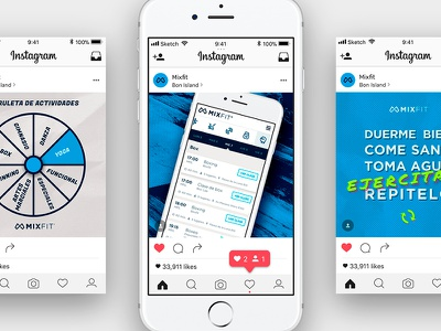Social media for fitness app