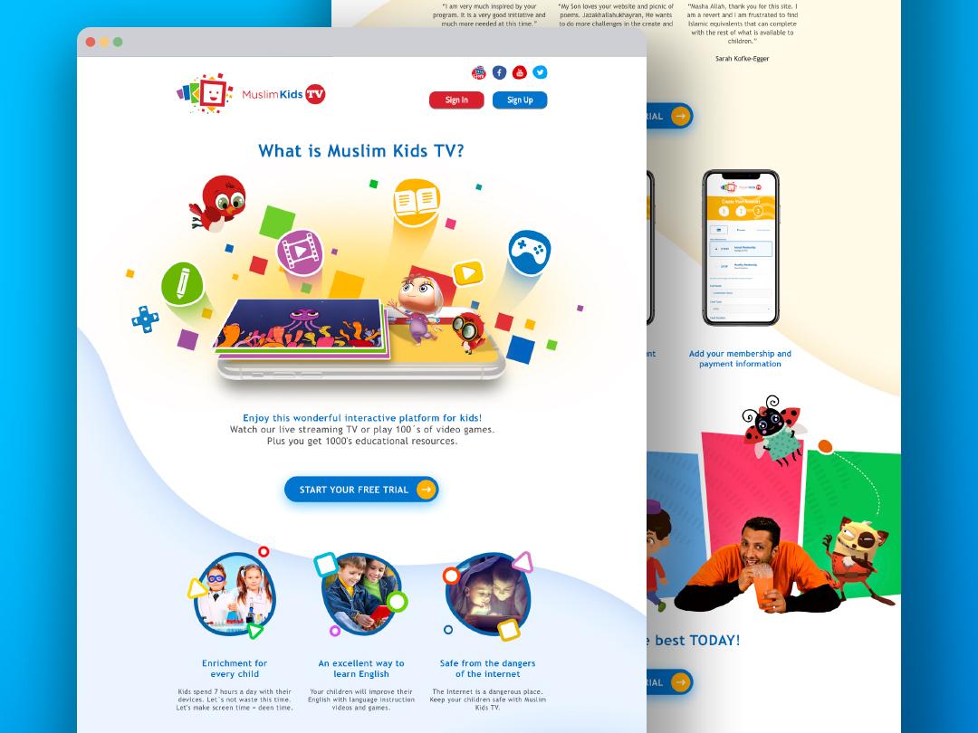 Muslim Kids TV Redesign by ar2design on Dribbble