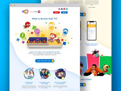 Muslim Kids TV Redesign kids app ui illustration