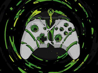 Xbox Controller Melt controller game illustration