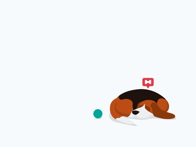 Our most active member illustration sleep pet beagle
