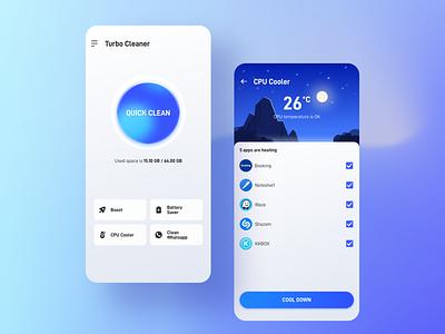 Phone Cleaner App Design ux branding illustration design ui
