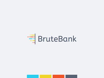 Logo Concept - Brute Bank mark bank brute firewall data logo