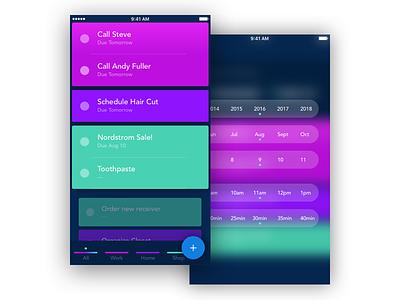 TODO App Concept for iOS blur flat ios todo