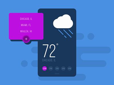 Flat Weather iOS App UI weather flat app ios