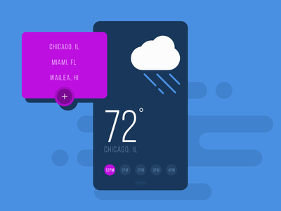 Flat Weather iOS App UI