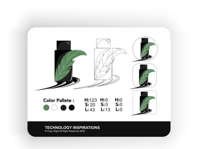 Remake Logo - Guide Essential Oils flat icon illustration concept web app design logo