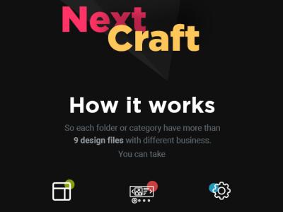 Nexcraft - A modular Web UI Kit for designers branding graphic design kit ux design website ui design ui design