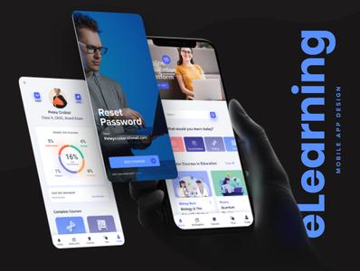 Educatly: Mobile UI Kit for Online Learning learning app website landing page ux design ui design