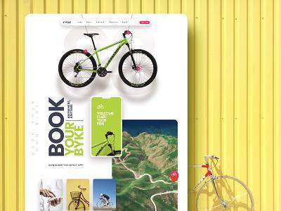 Book Your Bike application design ux design website landing page ui design design graphic design