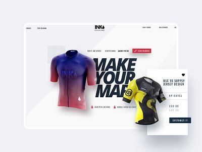 INK by Black Sheep Cycling jersey design product design application design ui design website ux ux design landing page graphic design design