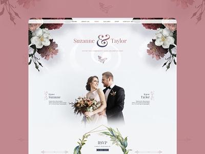 My Wedding Story web template application design wedding app ux design website landing page graphic design design