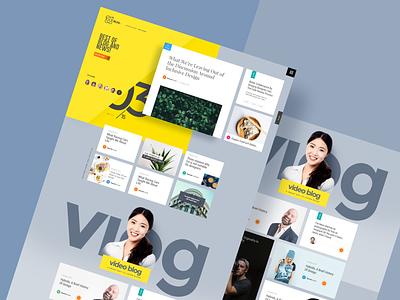 Blog and News Landng Pages branding website ui design landing page