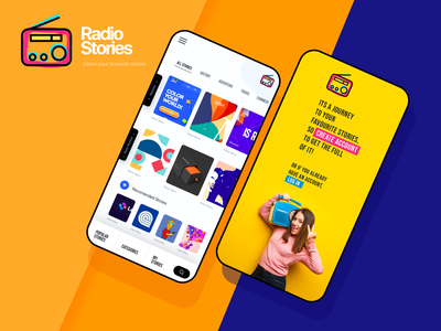 RadioStory | Podcast UI kit landing page branding ui ux ui kit ui design