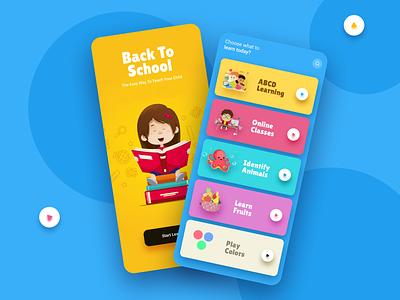 eLearning for kids product design app design ui design ui ux design