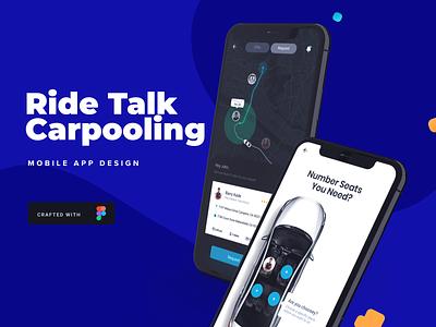 RideTalk | Carpool Service design ux design branding app designer app design