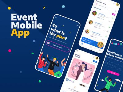Event Try | Event App figma design ui design app template design app template app design template design