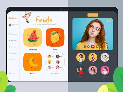 ClassMate - Education App For Kids education app ui  ux app ui design app design