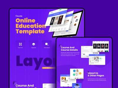 Educatly | Education App ux ux design landing page design ui design