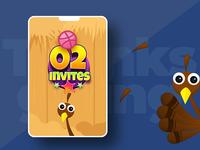 2 Invites for Thanksgiving!!