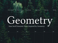 List of Free Sans Serif fonts Inspired by Geometry