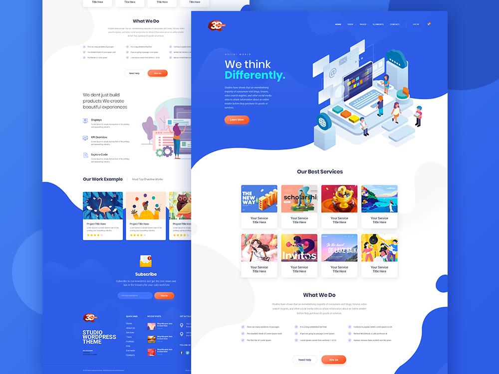 Website Design with Illustrations colours banner ux design ui design blue gradient illustration webdesign website teaser launch