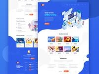 Website Design with Illustrations
