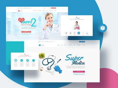 Super Medica Website ux design ui landing page web design website doctor medical  pharmaceutical medical