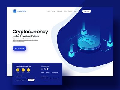 Cryptocurrency Landing Page graphic design illustration ux design ui design landing page website cryptocurrency bitcoin crypto currency