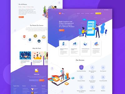Web Development Landing Page pantone colour of the year pantone color of the year ux design ui design gradient purple illustration landing page design website design landing page