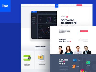 Landing Page for Software dashboard ui uiux ux design ui design website design homepage design landing page