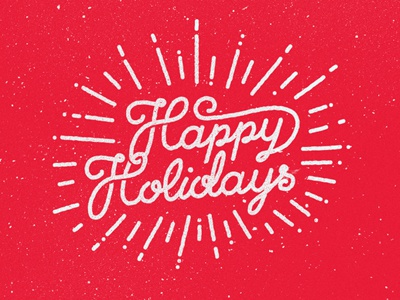 Happy Holidays Folks christmas holidays new year lettering script type