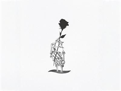 Black rose death black rose brush traditional tattoo neotraditional illustration drawing digital