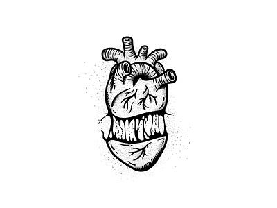 Split heart 💔 grime slime liquid dark art dark vector vector art illustrator illustration pointillism stippling tattoo design tattoo traditional neotraditional broken heart